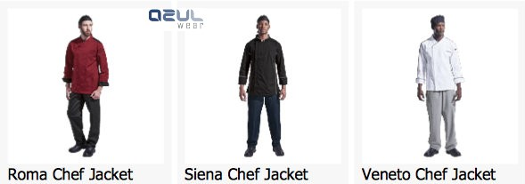 azulwear  cape town hospitality wear chef jackets chef uniforms