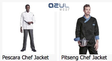 azulwear  cape town hospitality wear chef jackets branded chef uniforms
