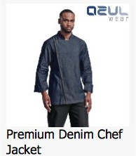 azulwear  cape town hospitality wear denim chef jackets chef uniforms
