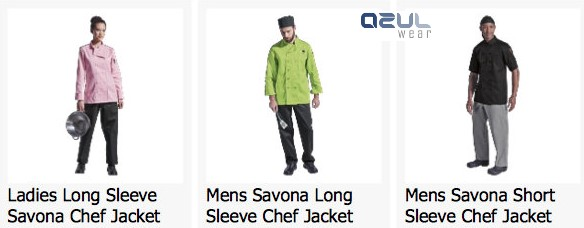 azulwear  cape town hospitality wear chef jackets ladies chef jackets