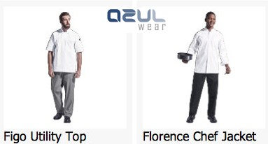 azulwear  cape town hospitality wear chef jackets chef baggies